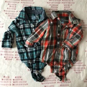 Set of two flannel long sleeves